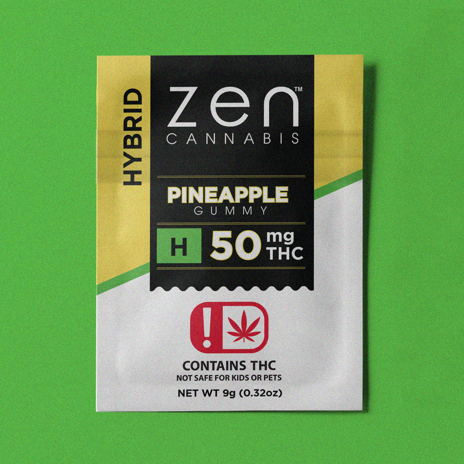 HYBRID | 50mg THC A blissful tropical vacation for your taste buds and your mind. Contains 50mg THC. Gluten