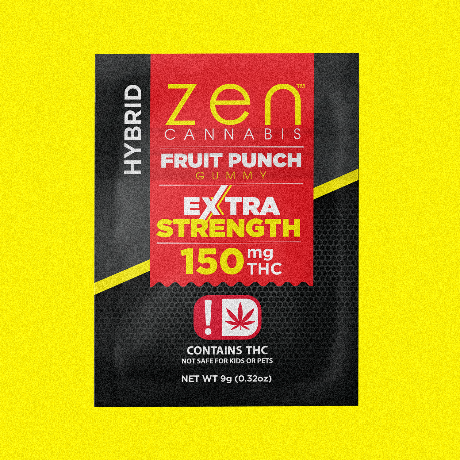 EXTRA STRENGTH    150mg THC  A triple strength hybrid to elevate your zen. Gluten